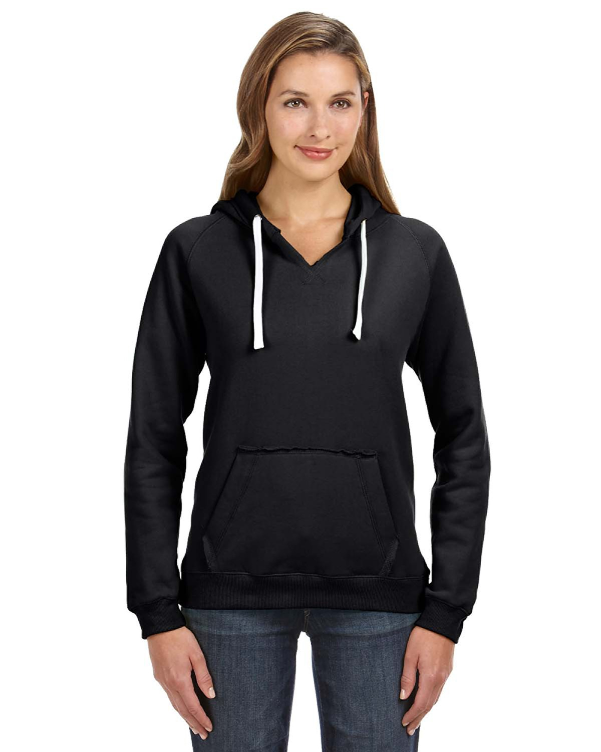 Ladies' Sydney Brushed V-Neck Hood