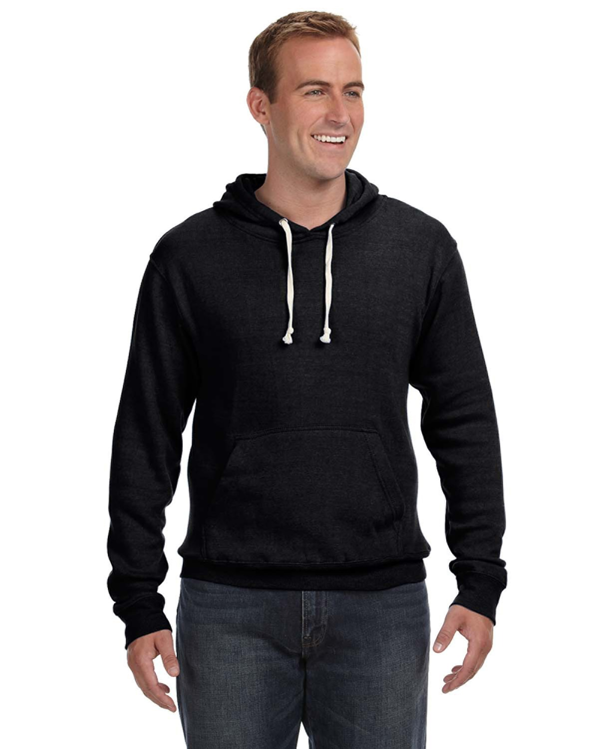 Adult Triblend Pullover Fleece Hood