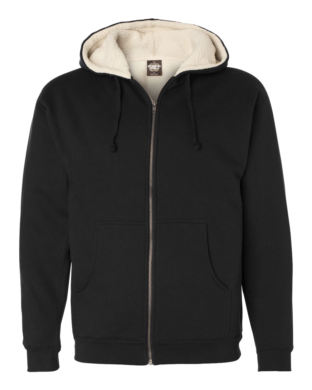 Sherpa-Lined Full-Zip Hooded Sweatshirt
