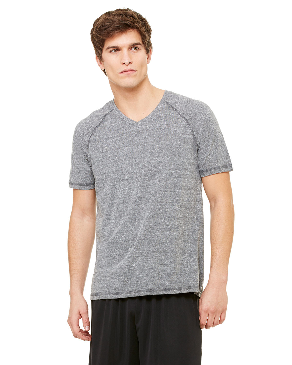 Men's Performance Triblend Short-Sleeve V-Neck T-Shirt
