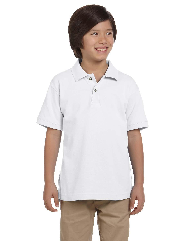 Youth 6 oz. Ringspun Cotton Piqué Short-Sleeve Polo