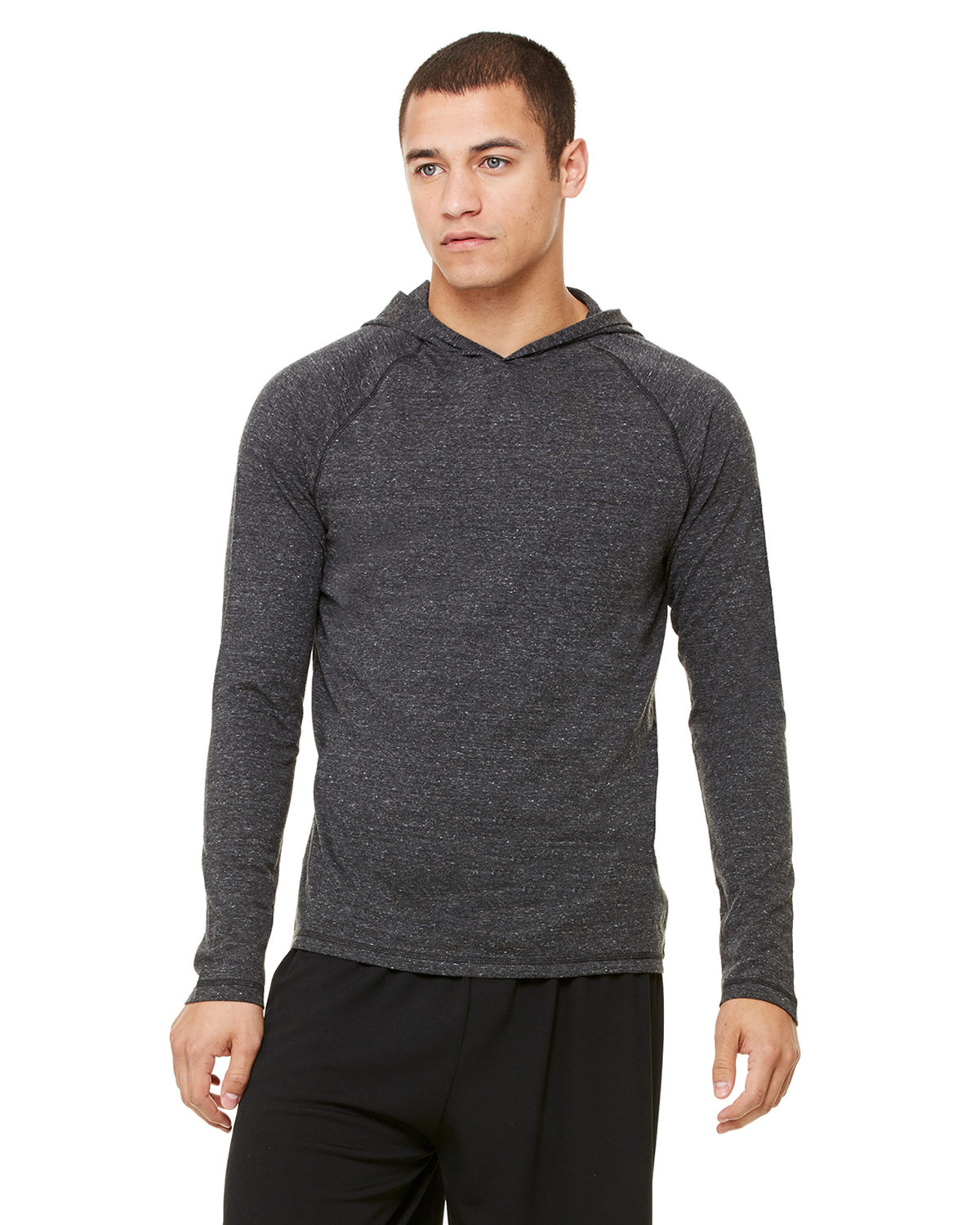 Men's Performance Triblend Long-Sleeve Hooded Pullover