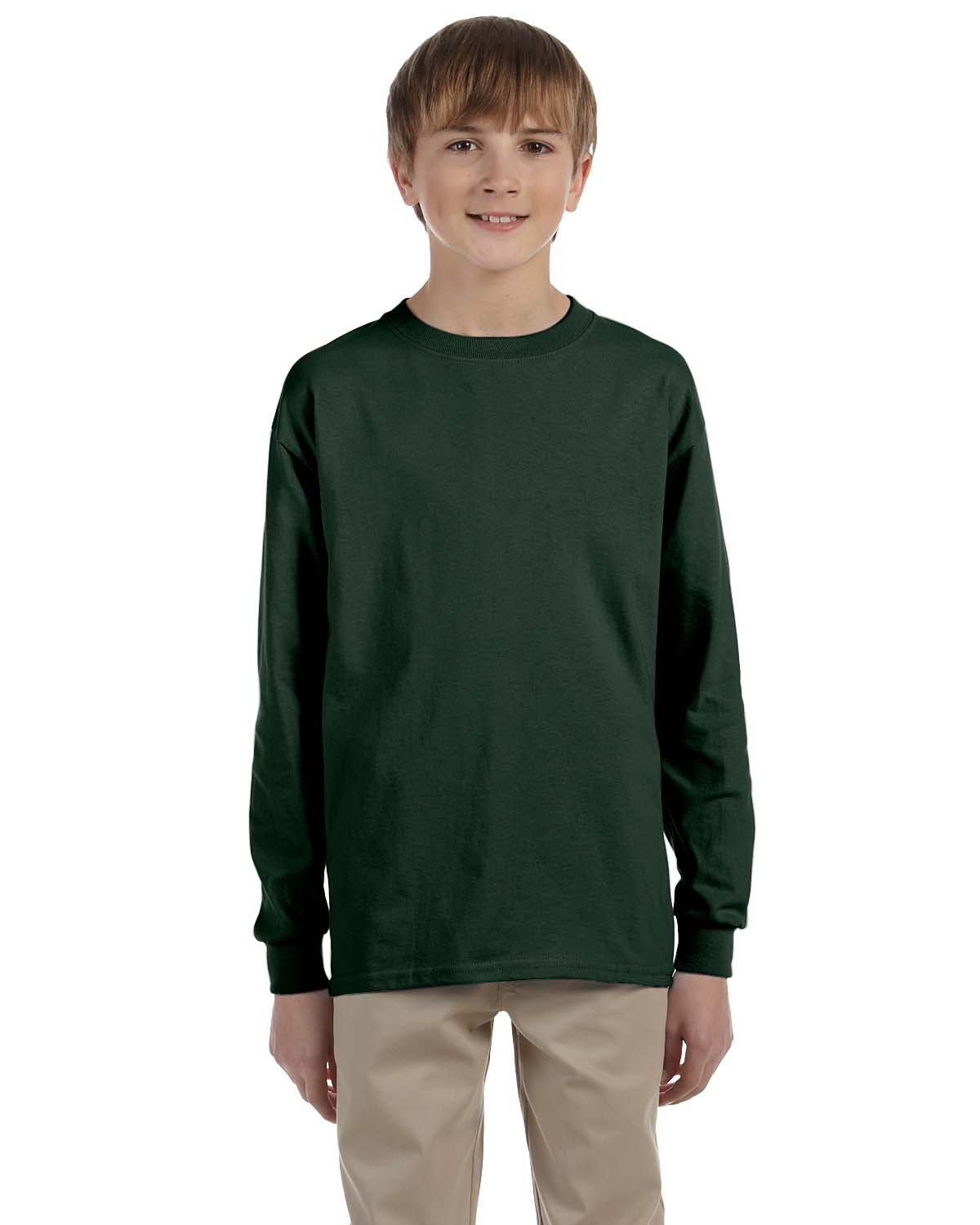 Youth 5.6 oz. DRI-POWER® ACTIVE Long-Sleeve T-Shirt