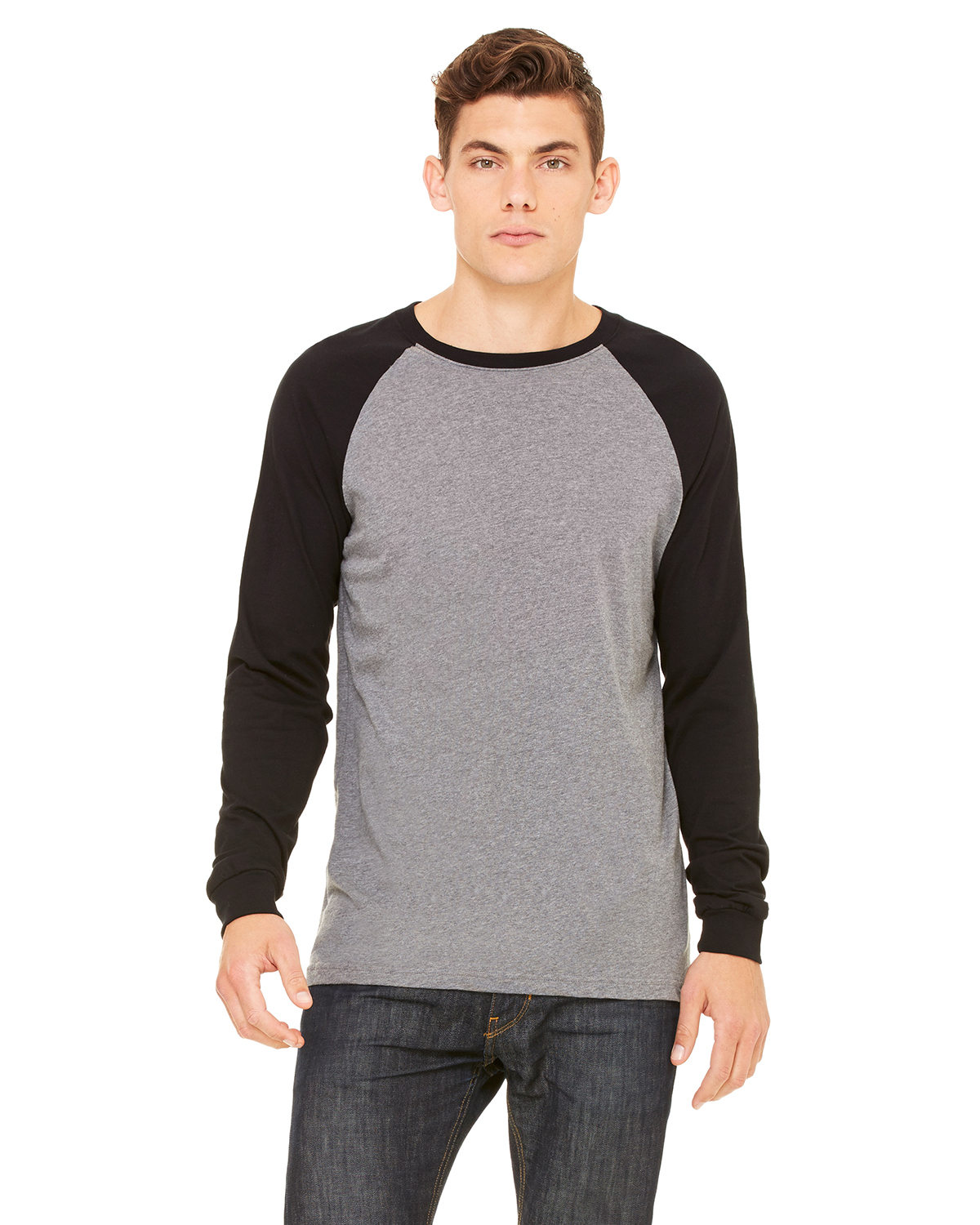 Men's Jersey Long-Sleeve Baseball T-Shirt