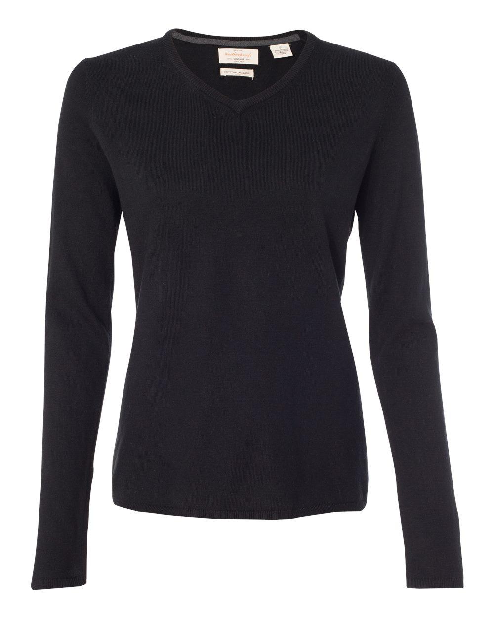 Women's Vintage Cotton Cashmere V-Neck Sweater