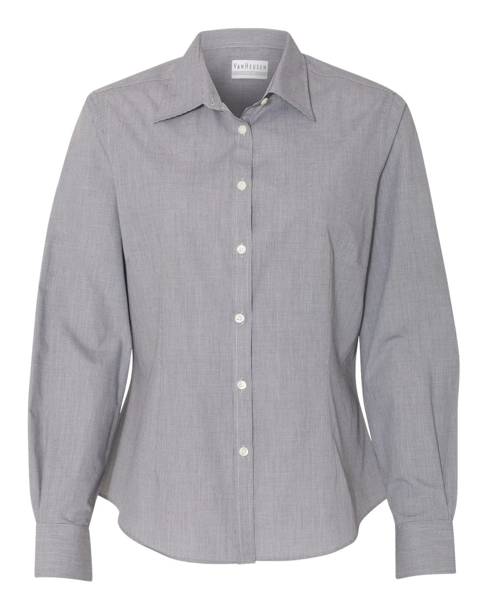 Women's Yarn Dyed Mini Check Long Sleeve Shirt