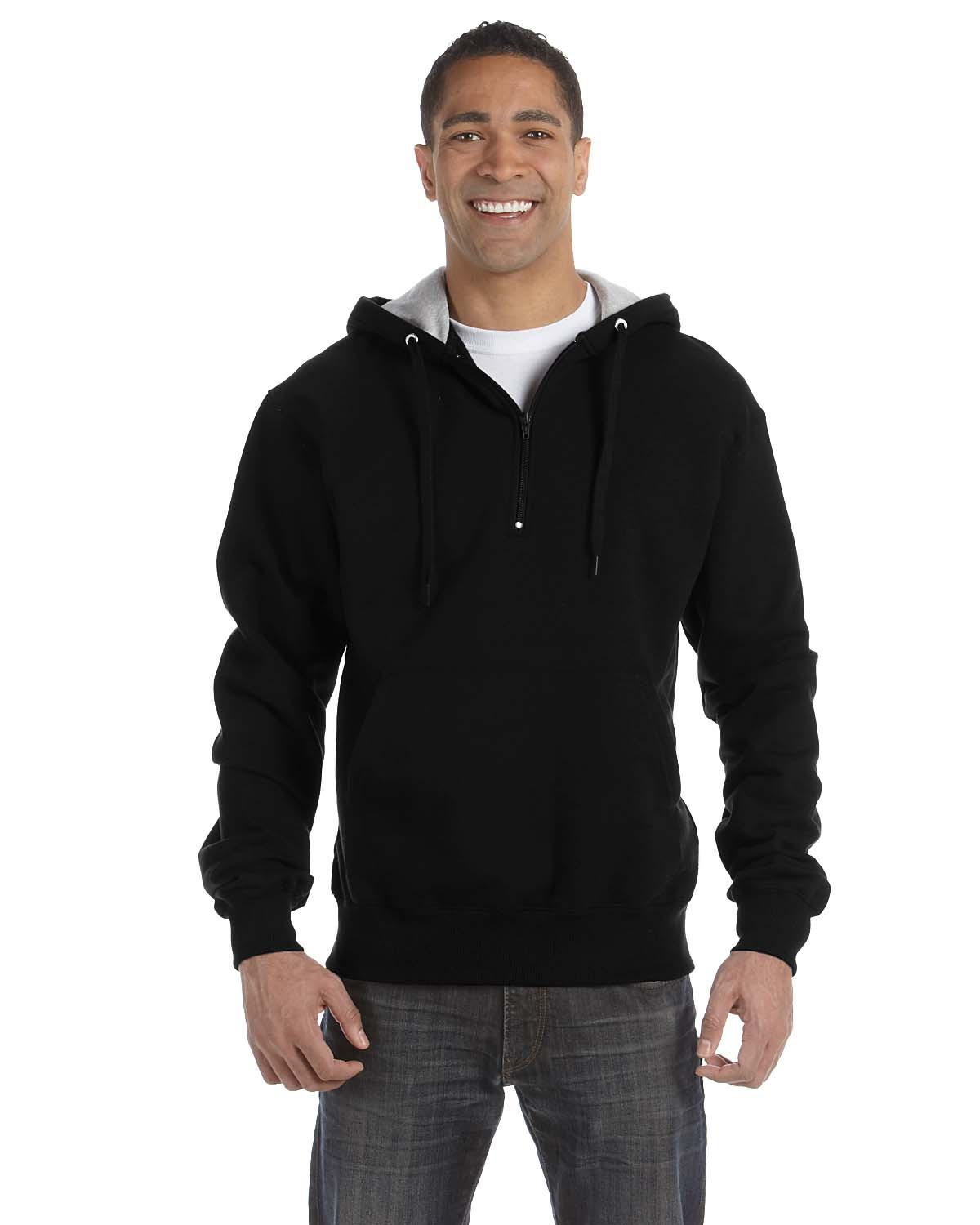 Cotton Max 9.7 oz. Quarter-Zip Hood