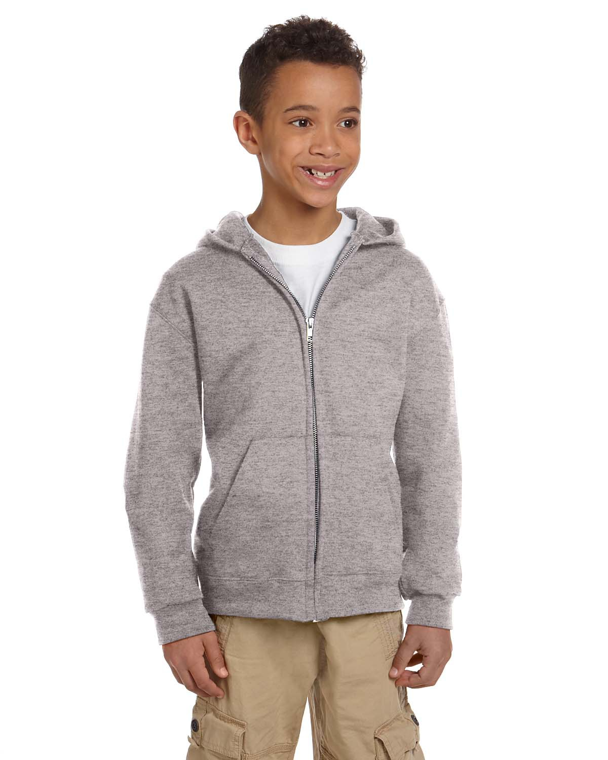 Youth Eco 9 oz. 50/50 Full-Zip Hood