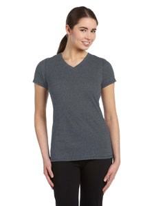 Ladies' Performance Triblend Short-Sleeve V-Neck T-Shirt
