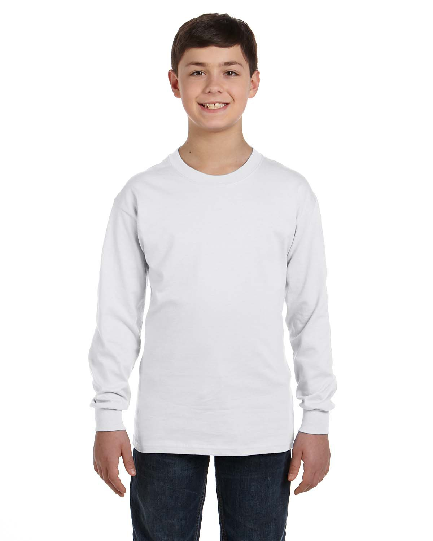 Youth 6.1 oz. Tagless® ComfortSoft Long-Sleeve T-Shirt