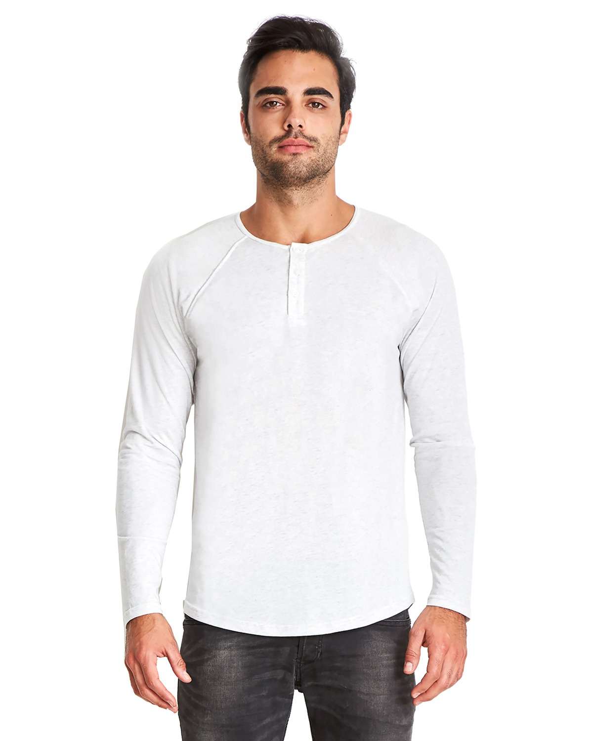 Men's Triblend Long-Sleeve Henley