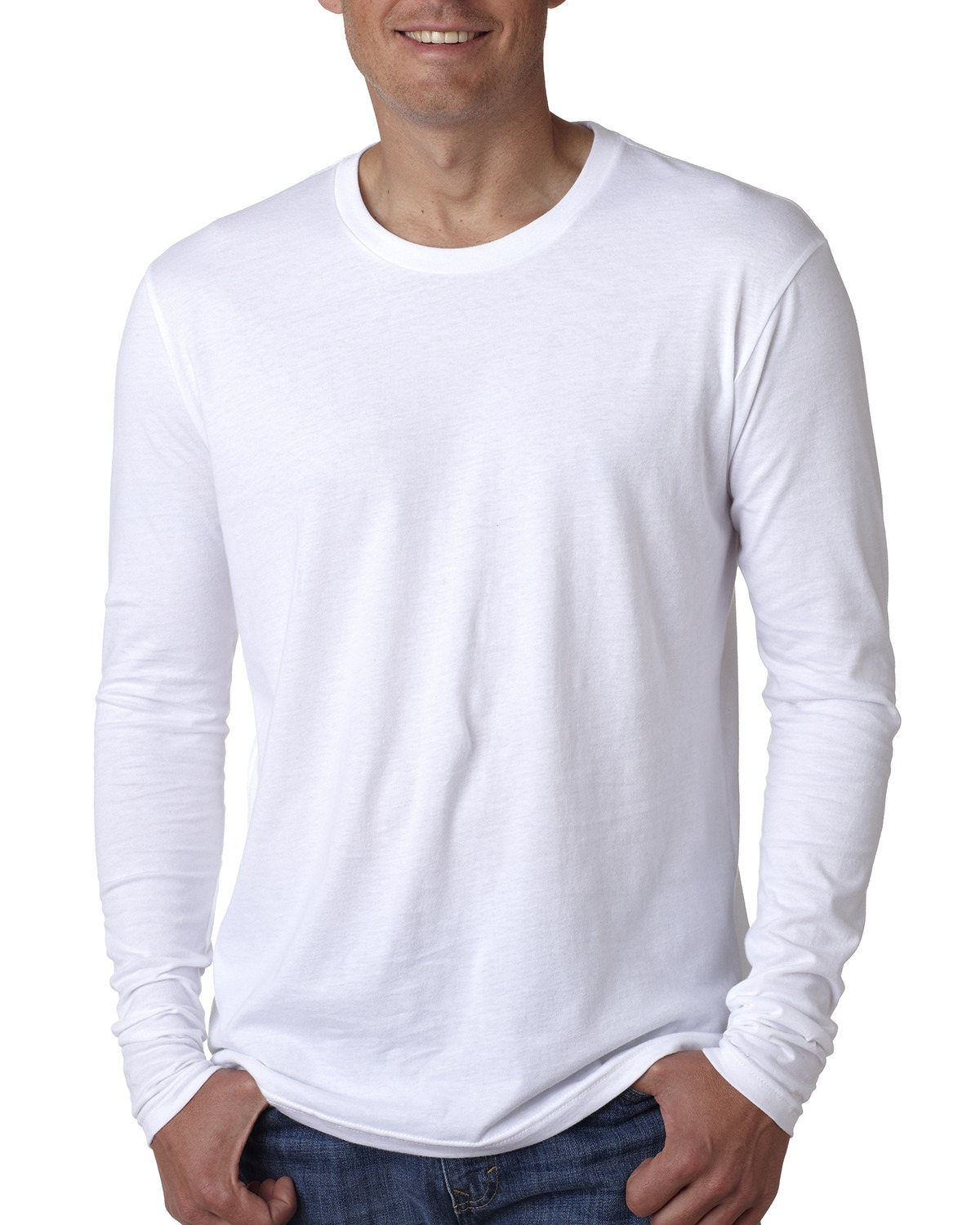 Men's Cotton Long-Sleeve Crew