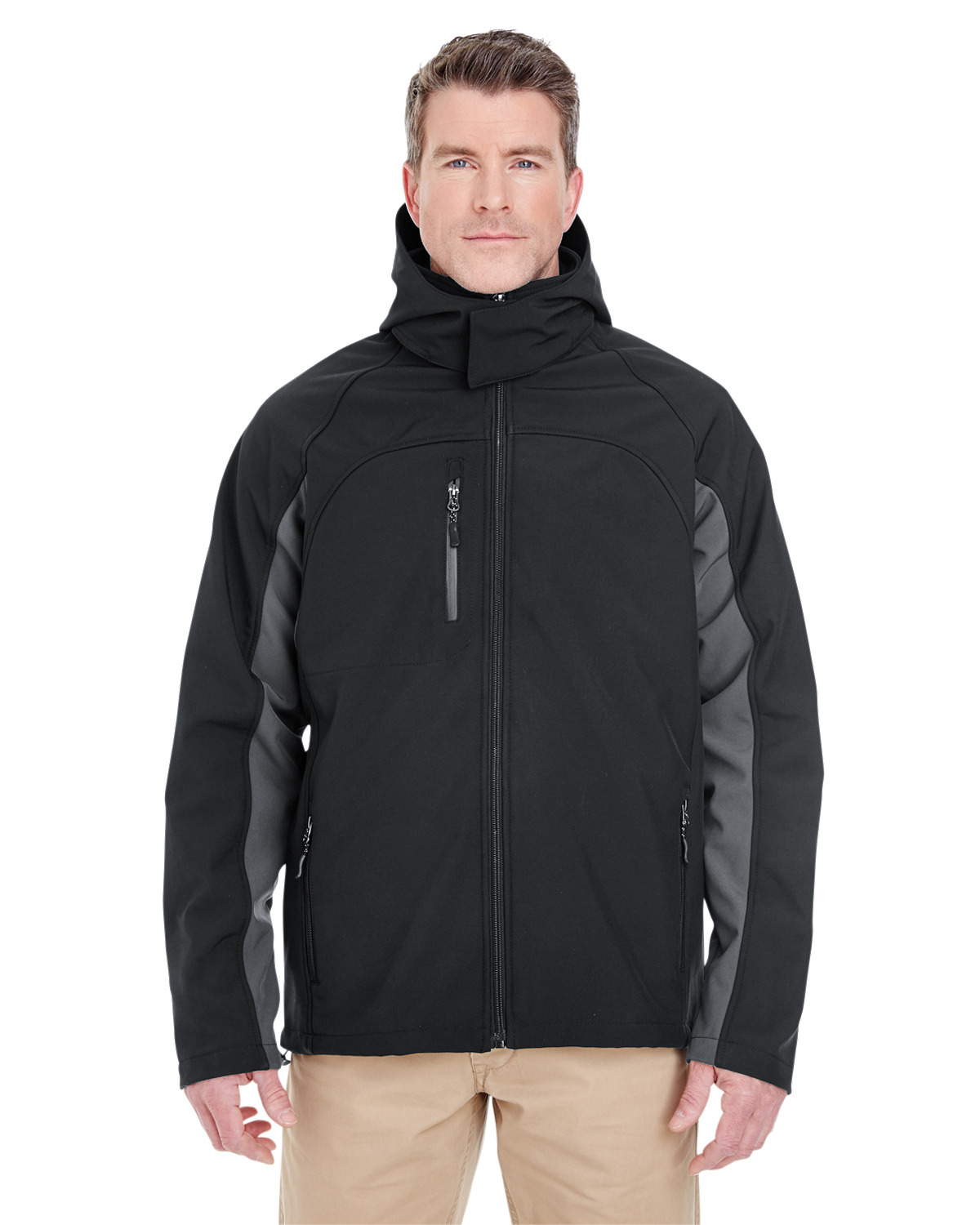 Adult Colorblock 3-in-1 Systems Hooded Soft Shell Jacket