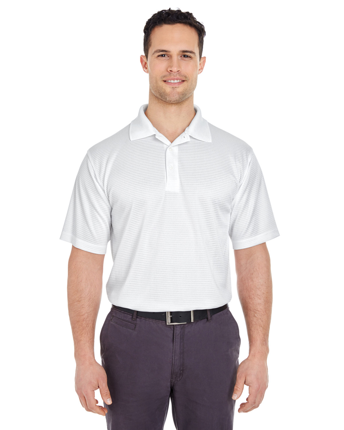 Men's Cool & Dry Elite Mini-Check Jacquard Polo