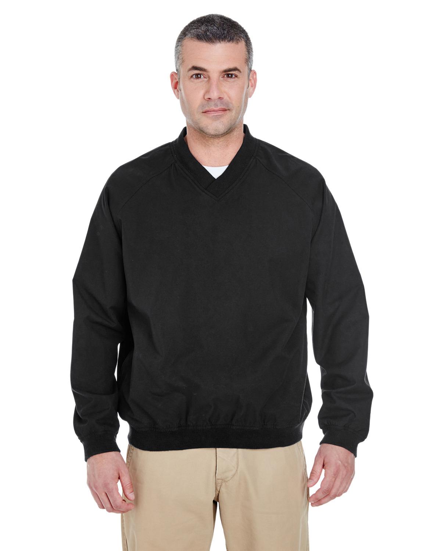 Adult Long-Sleeve Microfiber Crossover V-Neck Windshirt