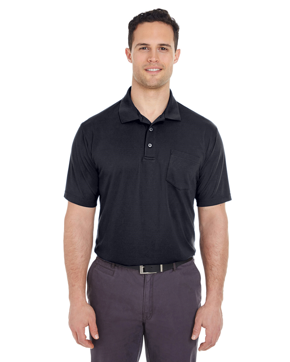 Adult Cool & Dry Mesh Piqué Polo with Pocket