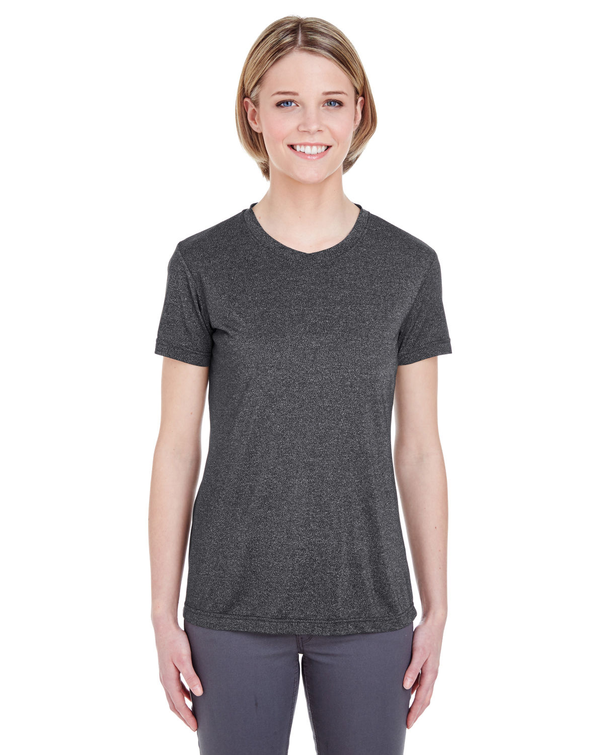 Ladies' Cool & Dry Heathered Performance T-Shirt