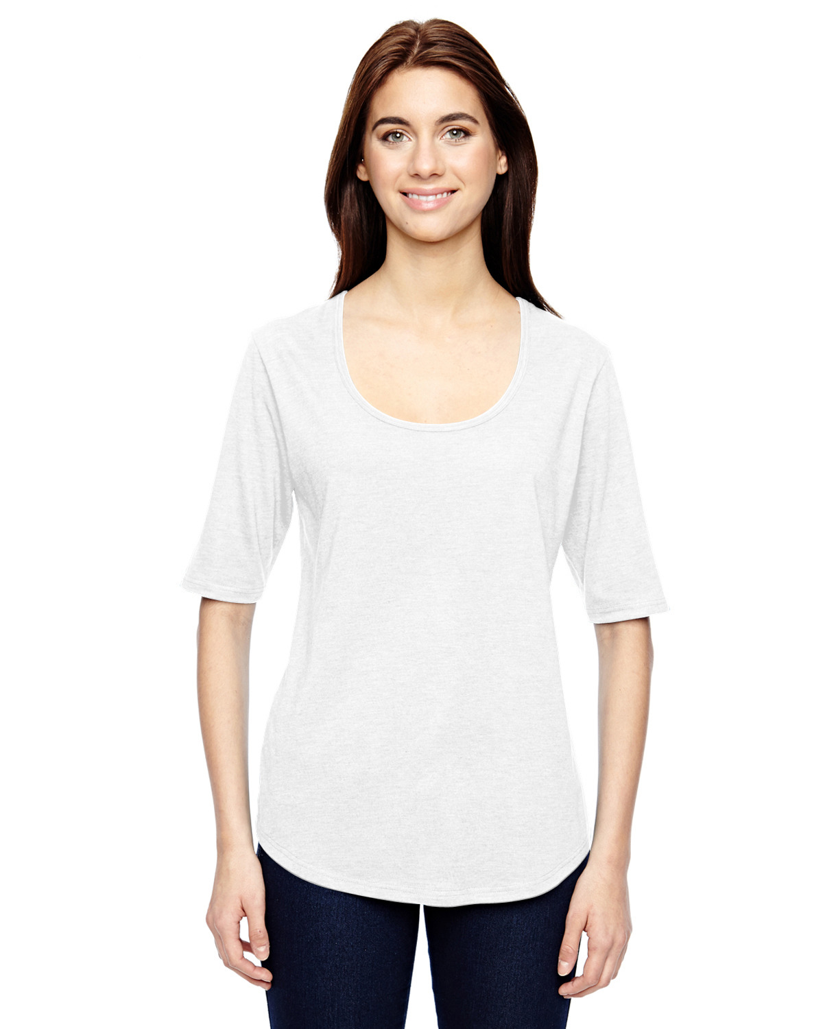 Ladies' Triblend Deep Scoop Half-Sleeve T-Shirt