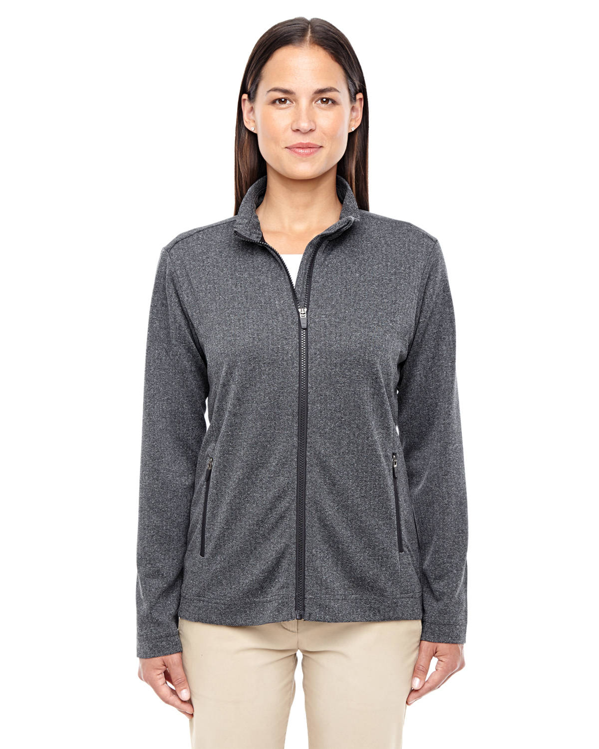 Ladies' Fairfield Herringbone Full-Zip Jacket