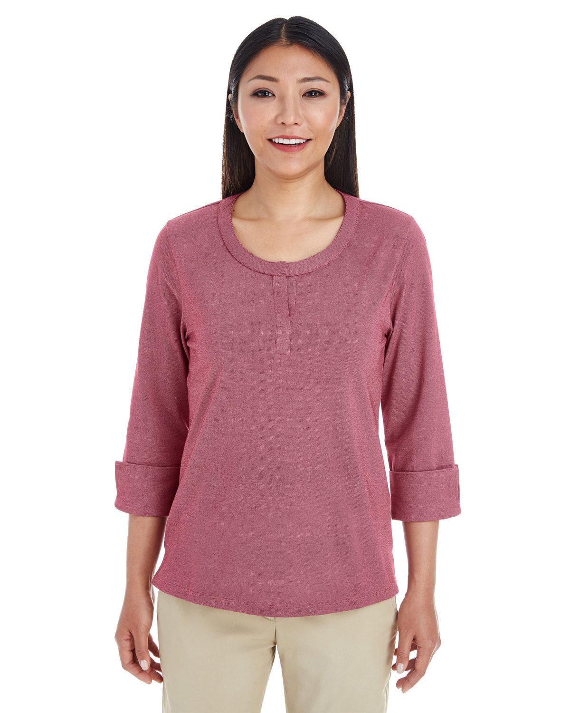 Ladies' Central Cotton Blend Mélange Knit Top