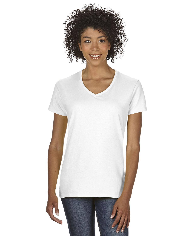 Ladies' Heavy Cotton™ 5.3 oz. V-Neck T-Shirt