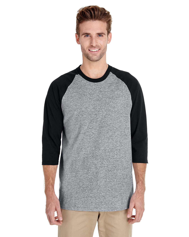 Adult Heavy Cotton™ 5.3 oz. 3/4 Raglan Sleeve T-Shirt