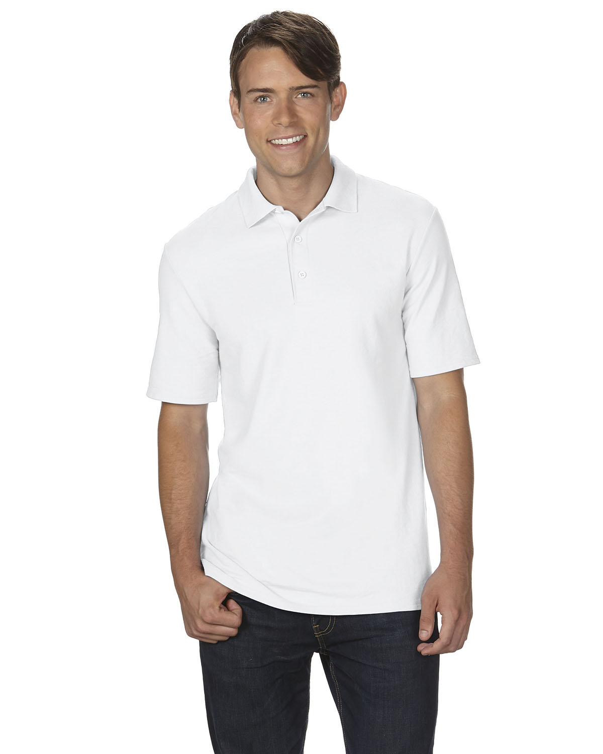 Adult DryBlend® 6 oz. Double Piqué Polo