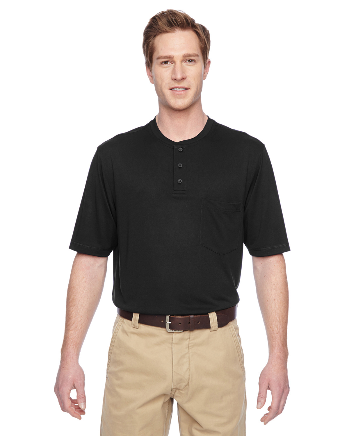 Adult Short-Sleeve Performance Henley