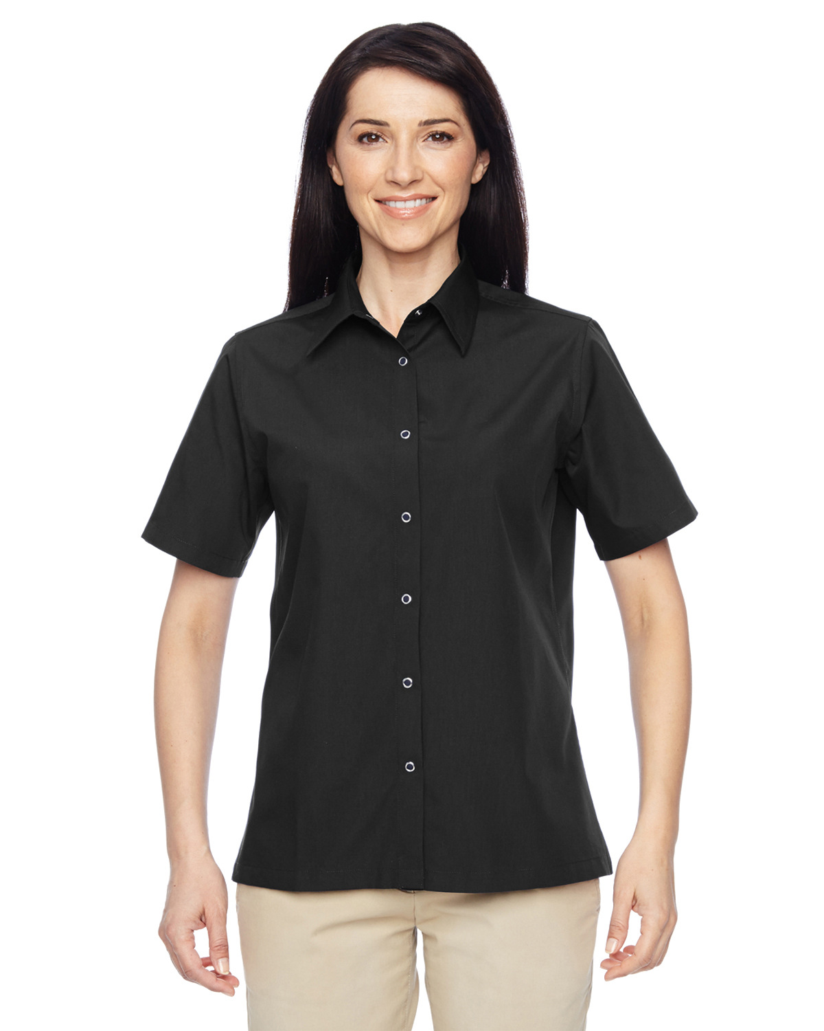 Ladies' Advantage Snap Closure Short-Sleeve Shirt