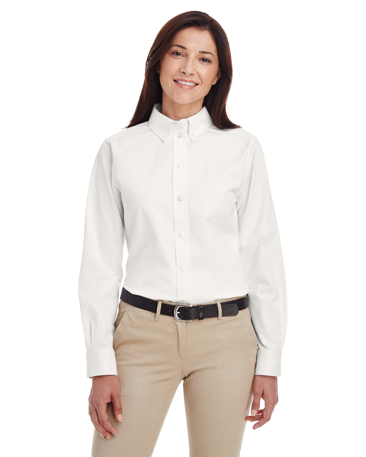 Ladies' Foundation 100% Cotton Long-Sleeve Twill Shirt with Teflon