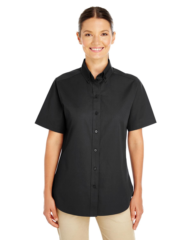 Ladies' Foundation 100% Cotton Short-Sleeve Twill Shirt Teflon