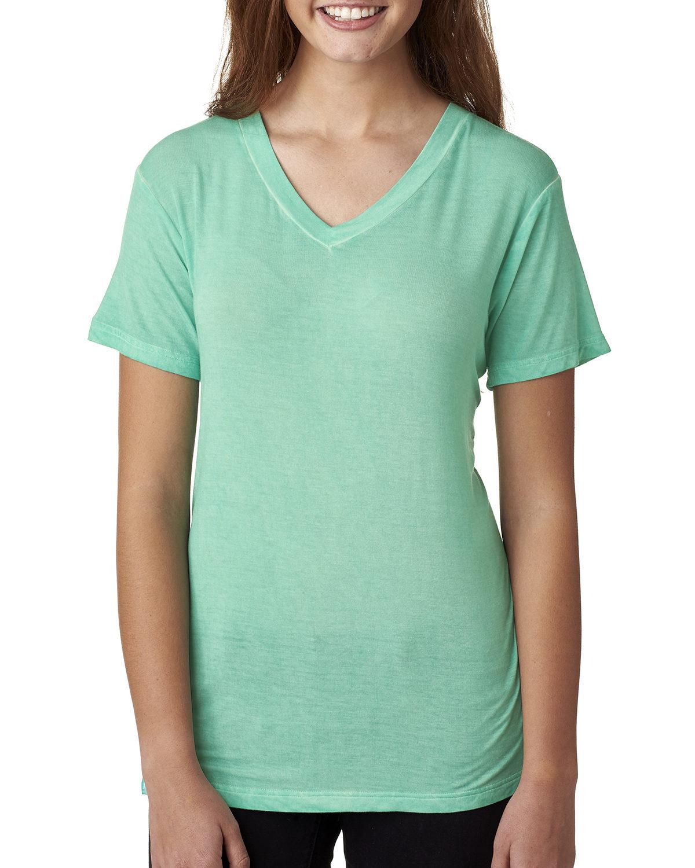 Ladies' Oasis Wash V-Neck T-Shirt
