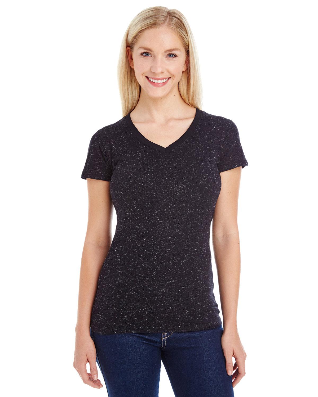 Ladies' Glitter V-Neck T-Shirt