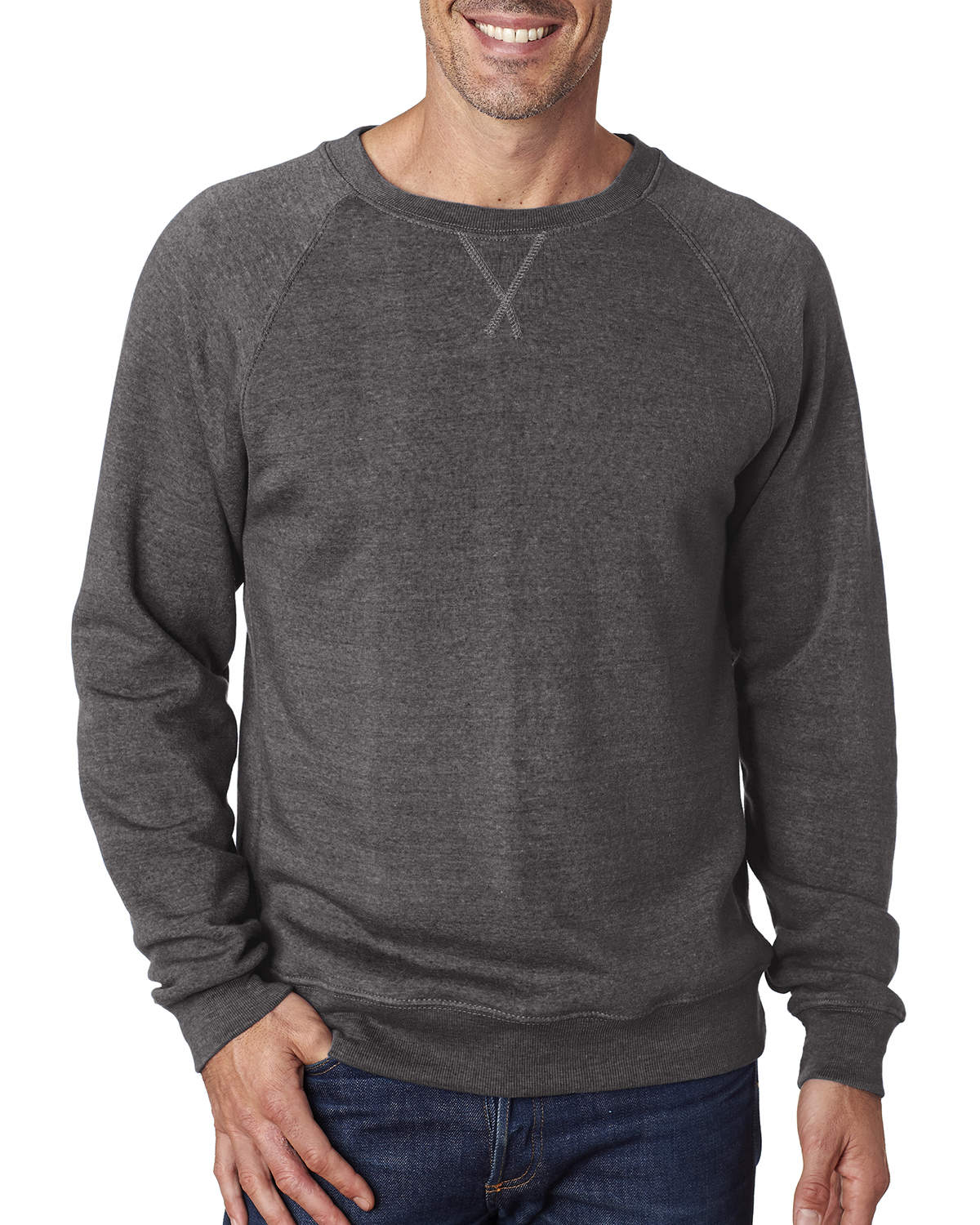Men's Triblend Fleece Crew