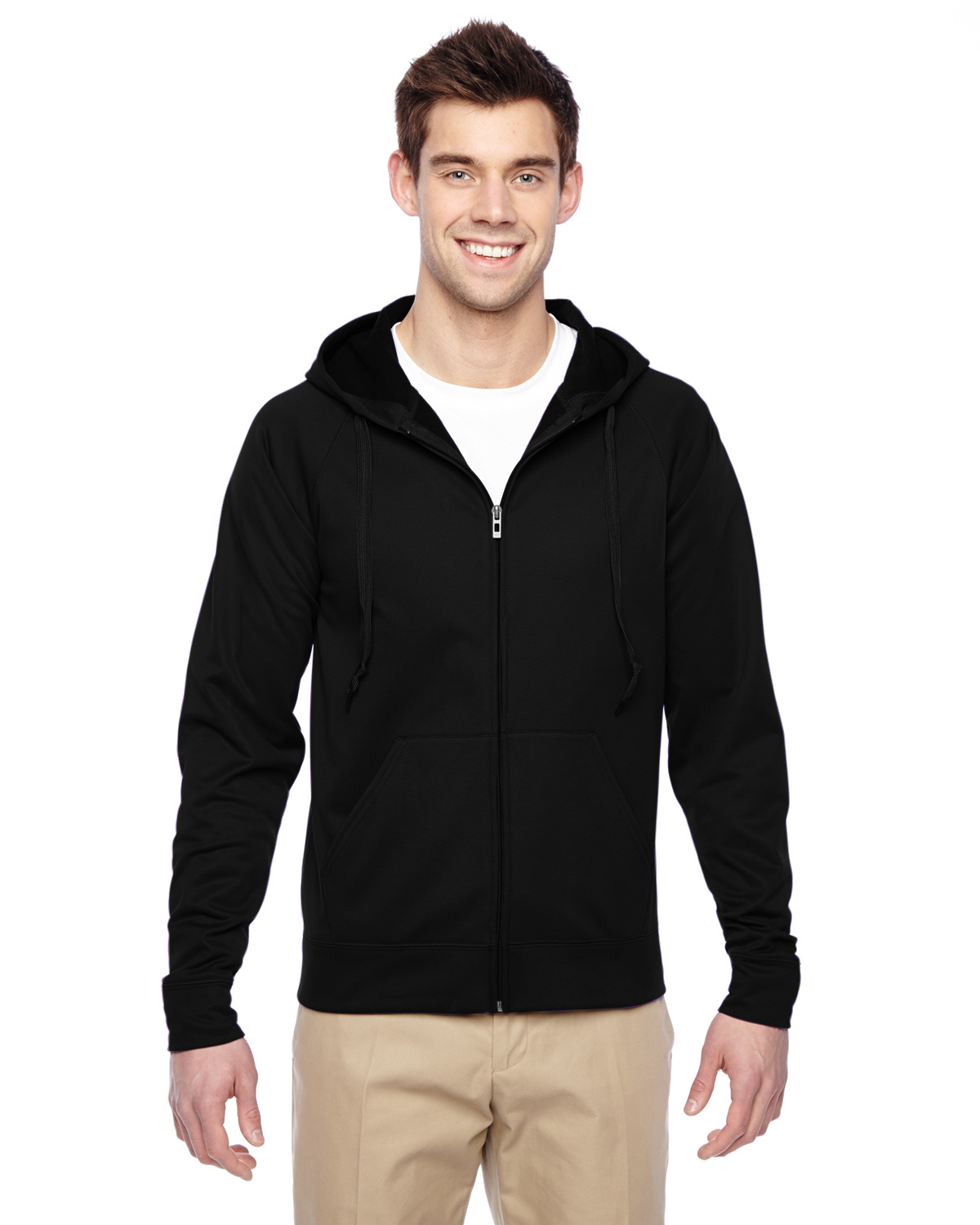 Adult 6 oz. DRI-POWER® SPORT Full-Zip Hooded Sweatshirt