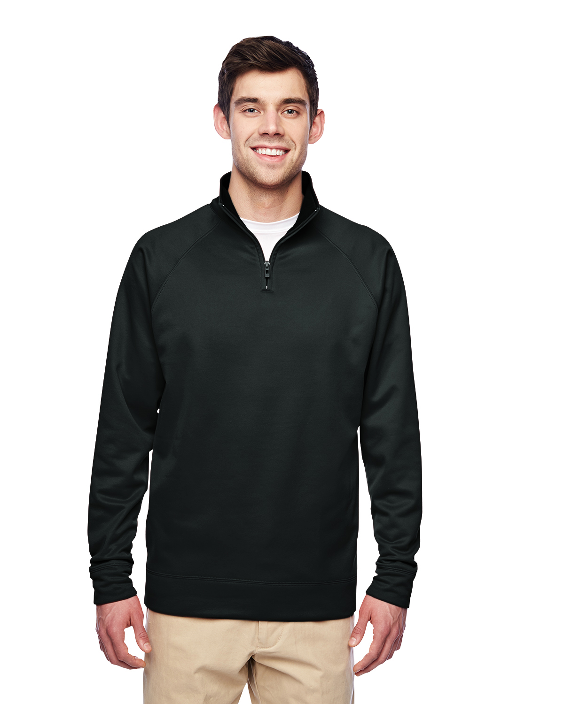 Adult 6 oz. DRI-POWER® SPORT Quarter-Zip Cadet Collar Sweatshirt