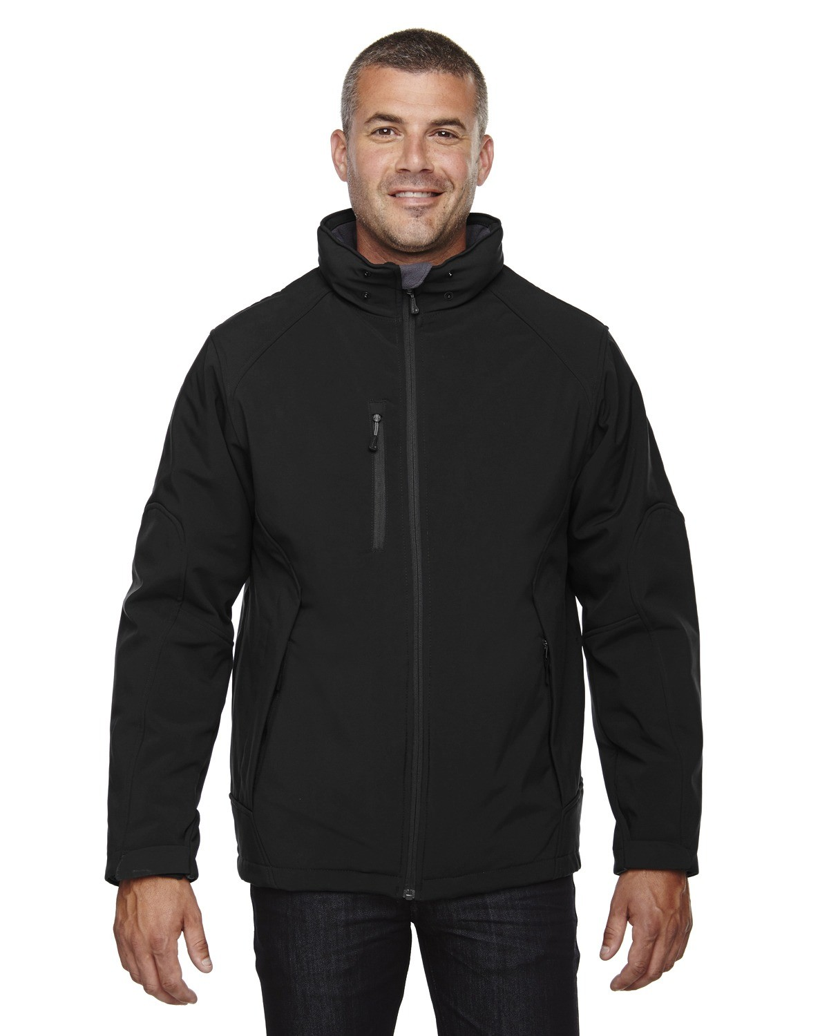 Men's Glacier Insulated Three-Layer Fleece Bonded Soft Shell Jacket with Detachable Hood