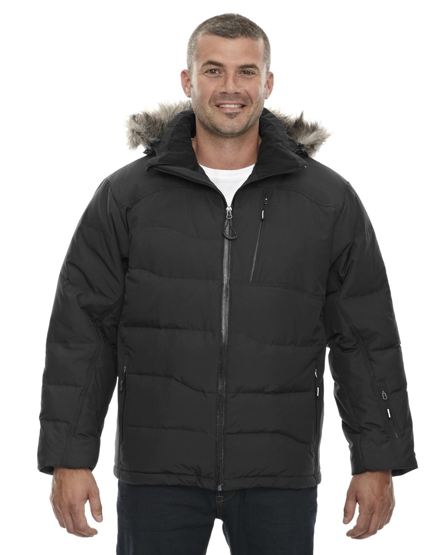 Men's Boreal Down Jacket with Faux Fur Trim