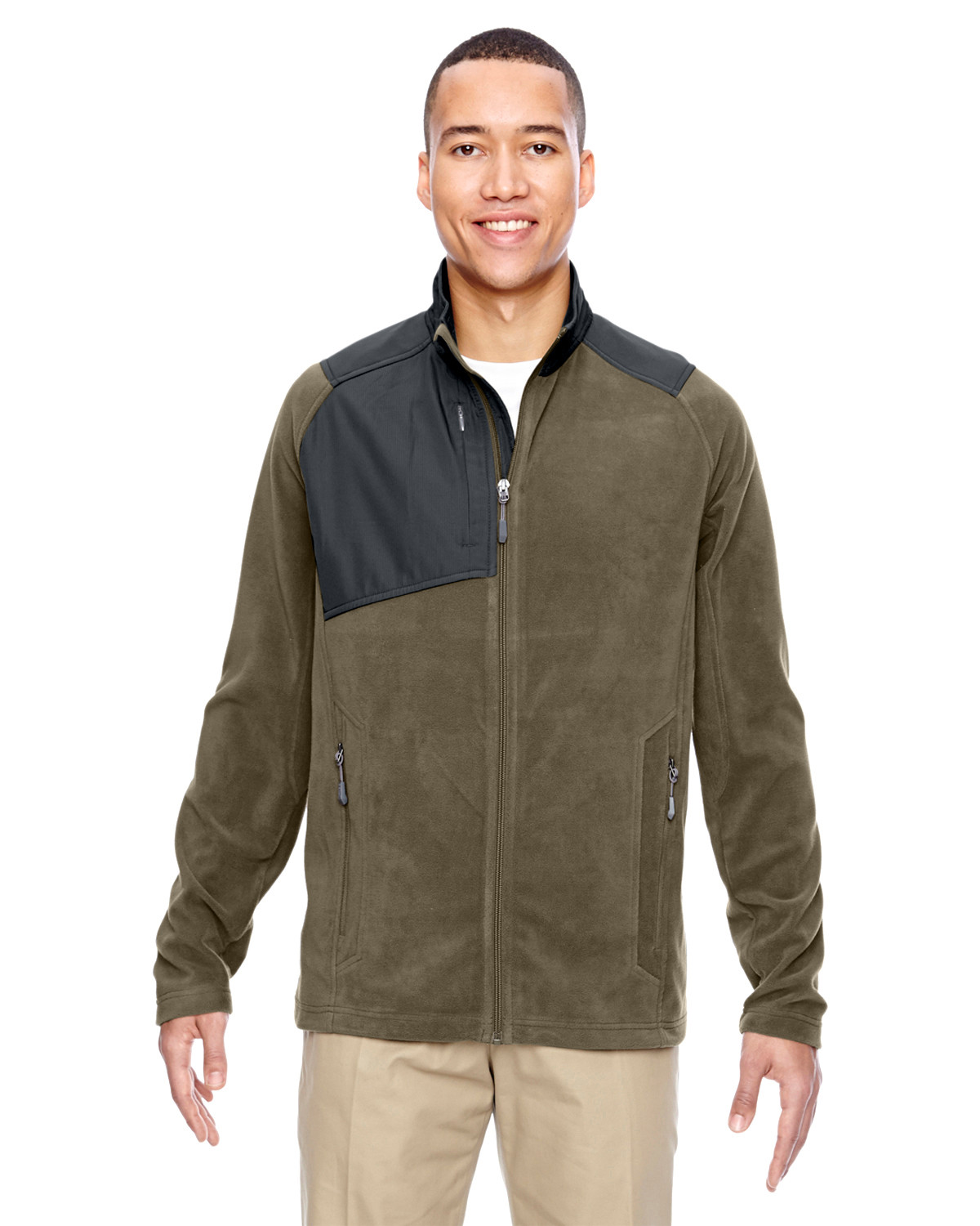 Men's Excursion Trail Fabric-Block Fleece Jacket