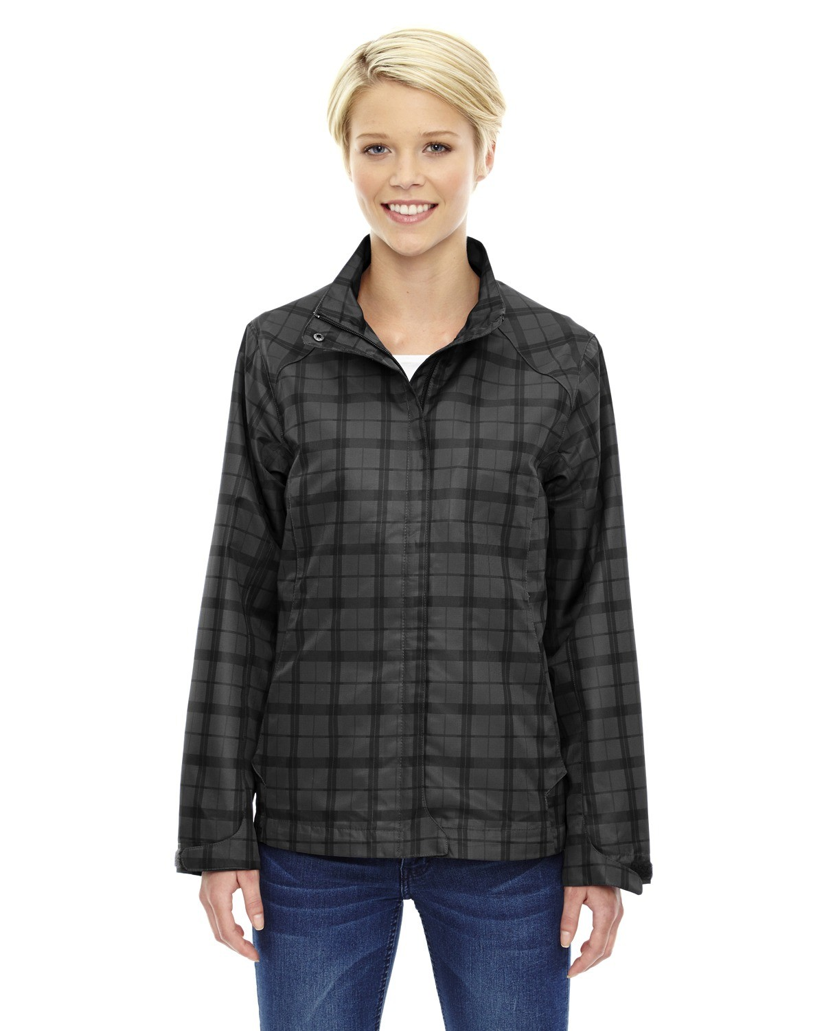 Ladies' Locale Lightweight City Plaid Jacket