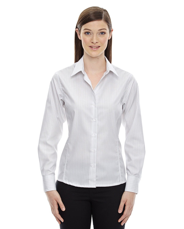Ladies' Boardwalk Wrinkle-Free Two-Ply 80's Cotton Striped Tape Shirt