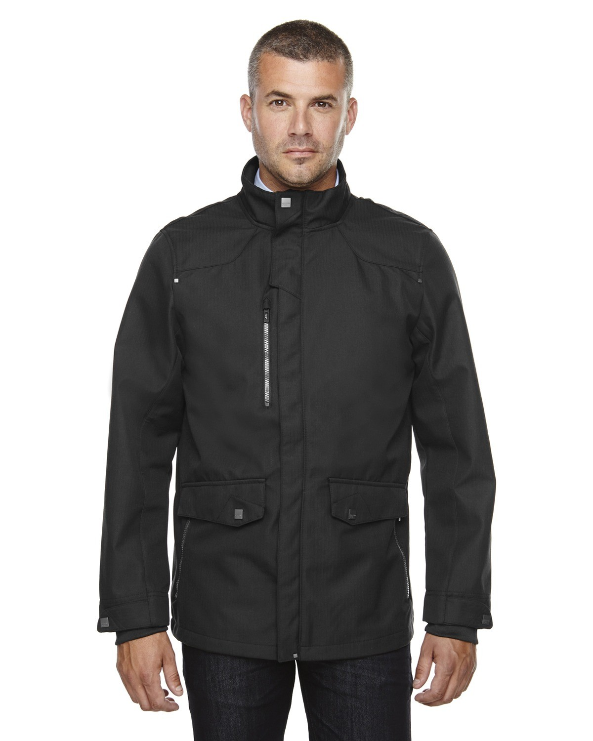 Men's Uptown Three-Layer Light Bonded City Textured Soft Shell Jacket