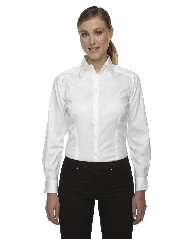 Ladies' Wrinkle-Free Two-Ply 80's Cotton Taped Stripe Jacquard Shirt