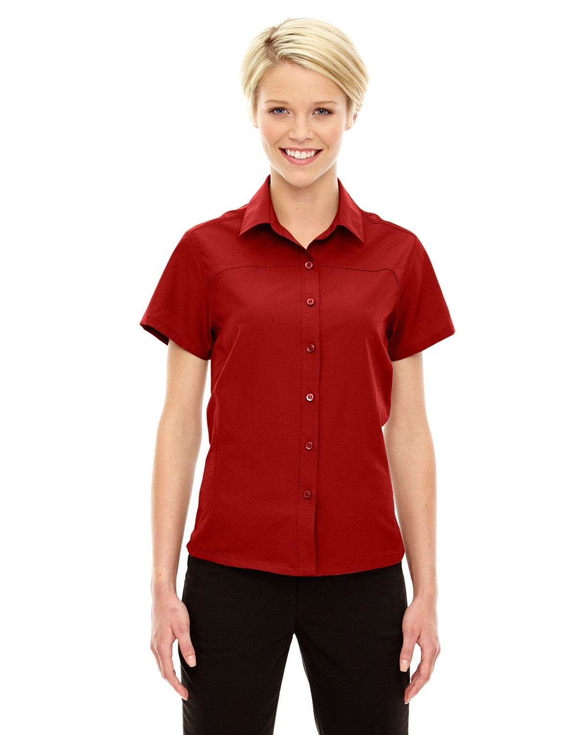 Ladies' Charge Recycled Polyester Performance Short-Sleeve Shirt