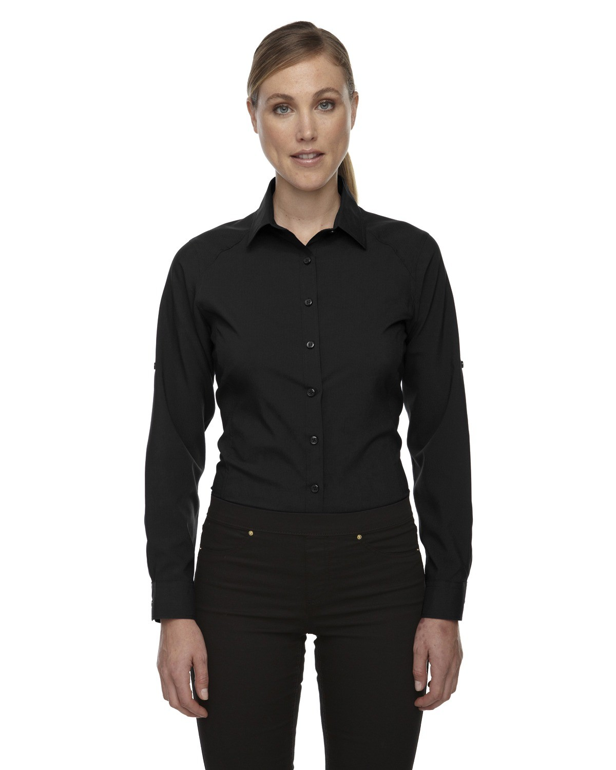 Ladies' Rejuvenate Performance Shirt with Roll-Up Sleeves