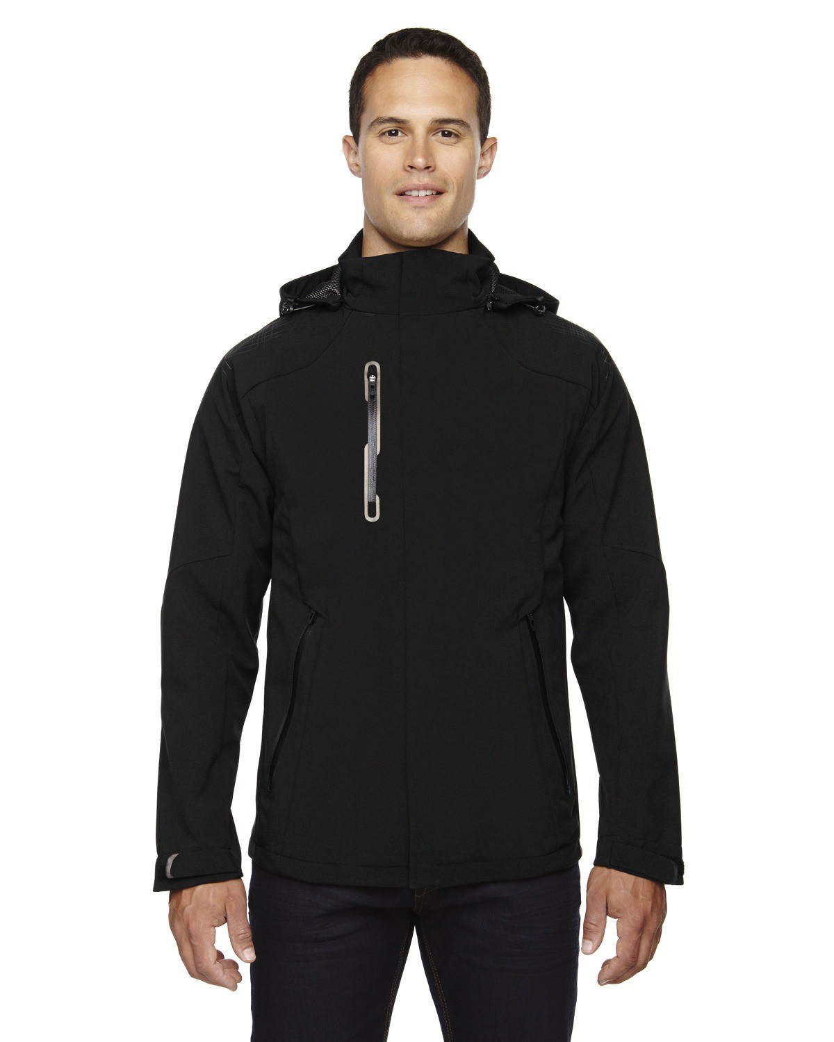 Men's Axis Soft Shell Jacket with Print Graphic Accents