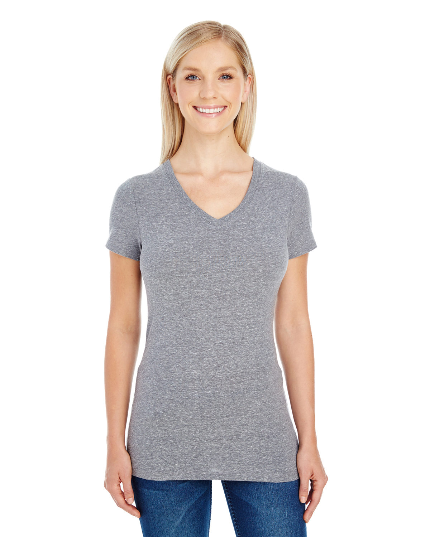 Ladies' Triblend Short-Sleeve V-Neck T-Shirt