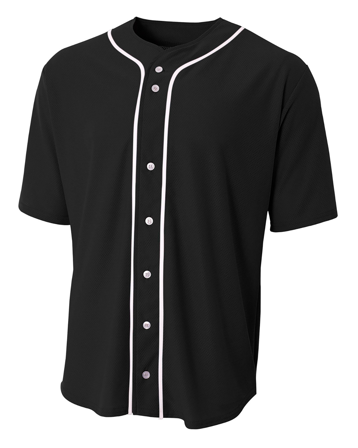 Shorts Sleeve Full Button Baseball Top