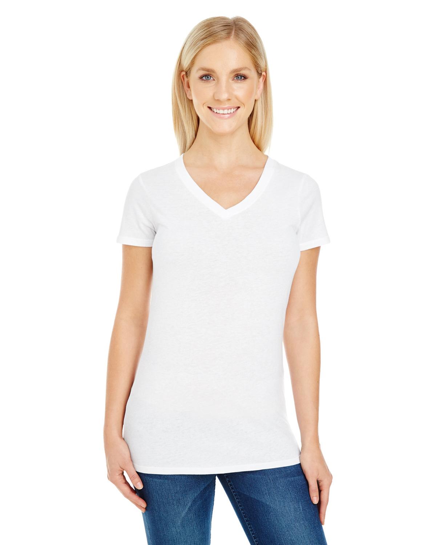 Threadfast Apparel 230B Ladies Pigment Dye Short-Sleeve V-Neck T-Shirt
