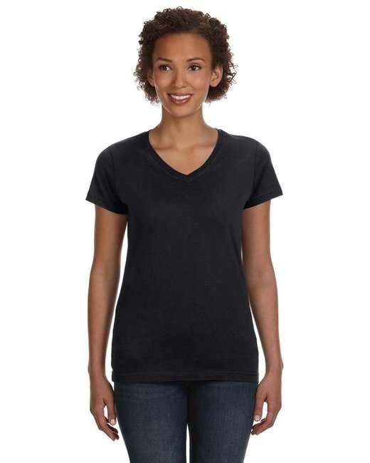 Ladies' V-Neck Fine Jersey T-Shirt